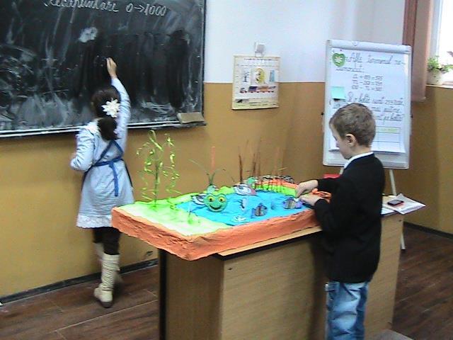 Activitate demonstrativa cu parintii cls a II-a Sc Podgoria